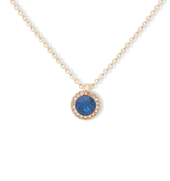 Double pendant necklace blue