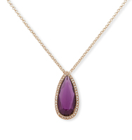 Double pendant necklace purple 3