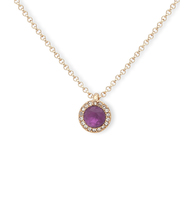 Double pendant necklace purple