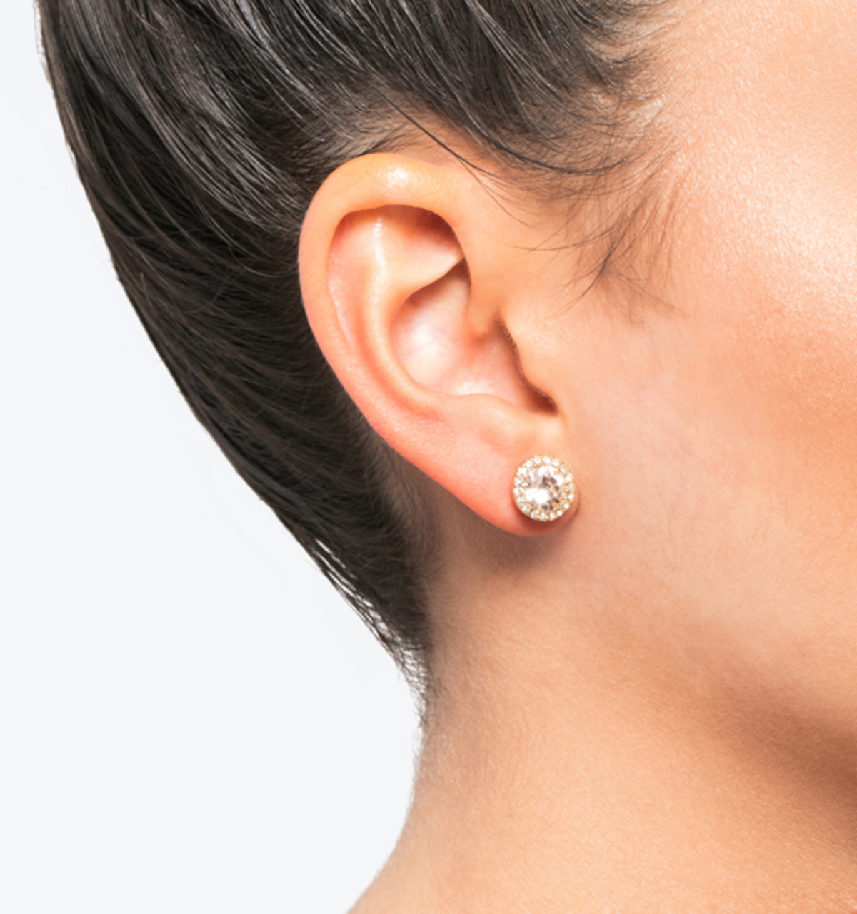 Stud earrings silk
