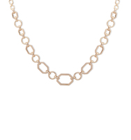 Frontal chain link necklace   gold