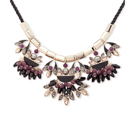 Dramatic frontal necklace