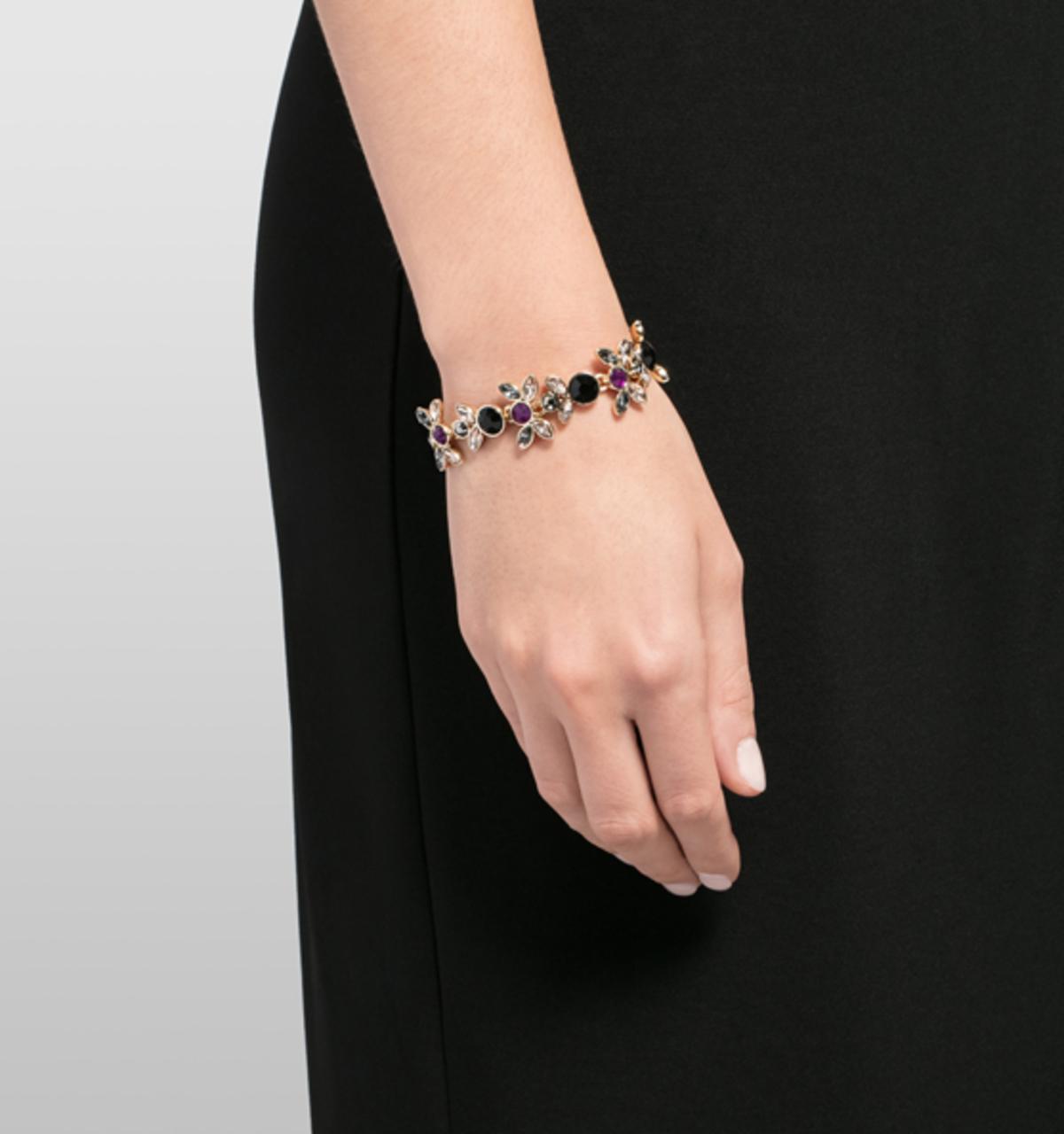 Floral charmed bracelet