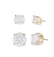 Crystal stud earrings   gold