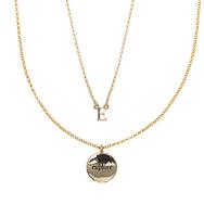 E for explore necklace