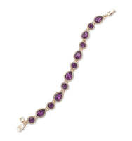 Jeweled flex bracelet purple