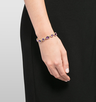Jeweled flex bracelet purple 2