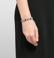 Jeweled flex bracelet blue 2
