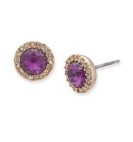 Stud earrings   purple