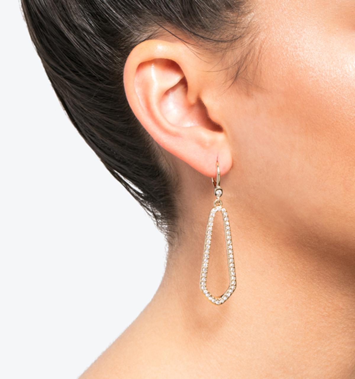 Crystal open drop earrings 2