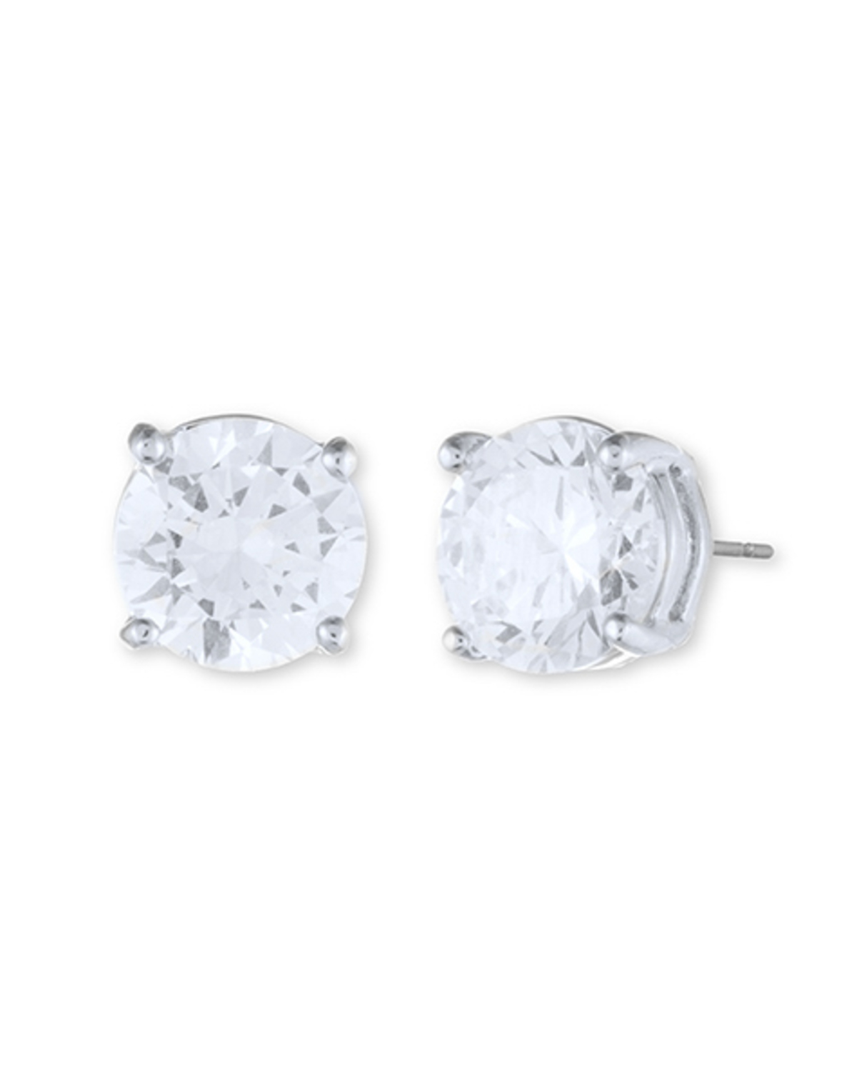 Classic stud earrings   silver