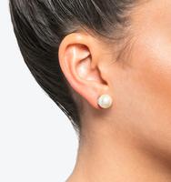 Classic pearl stud earrings silver
