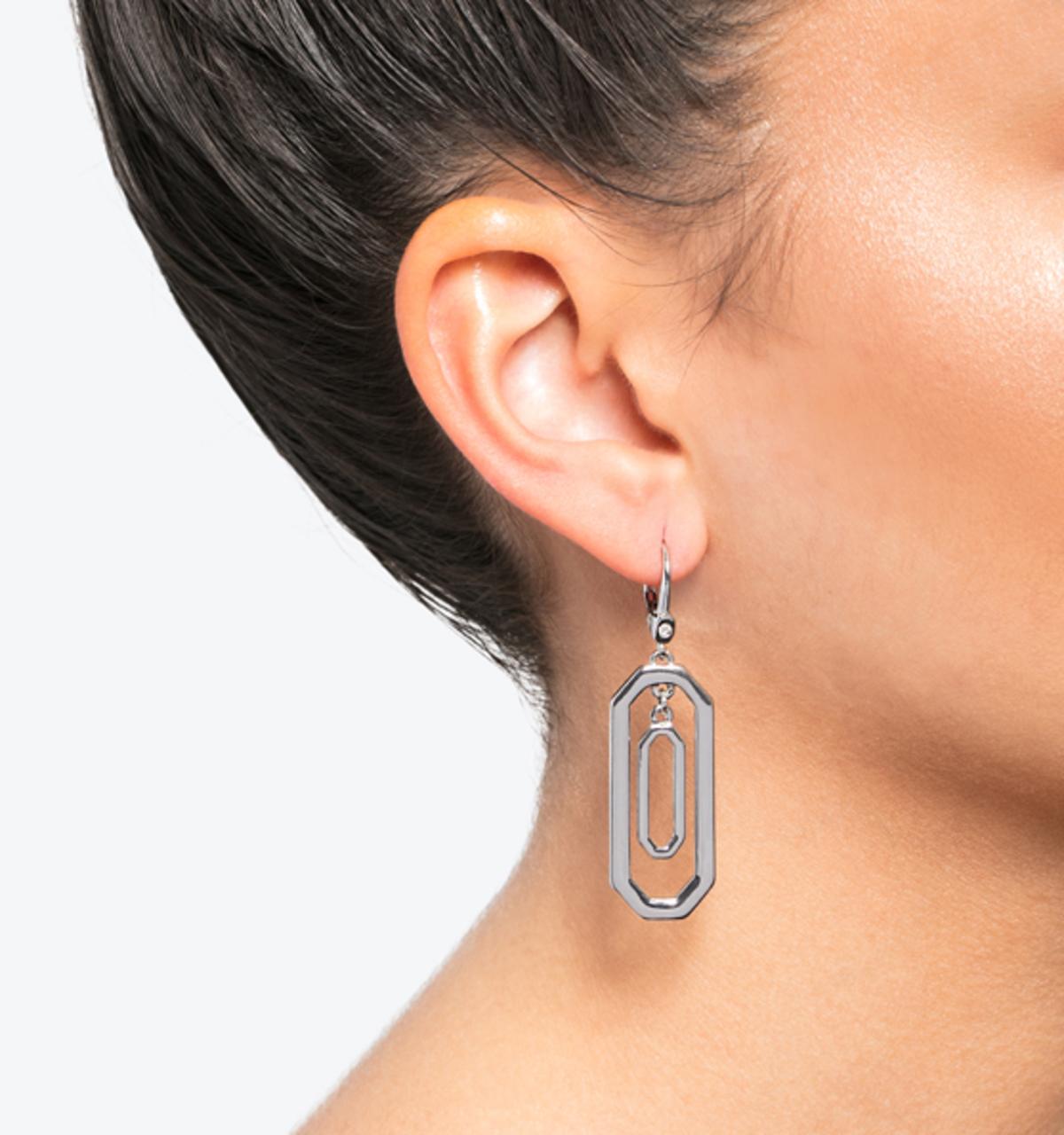 Classic orbital drop earrings silver