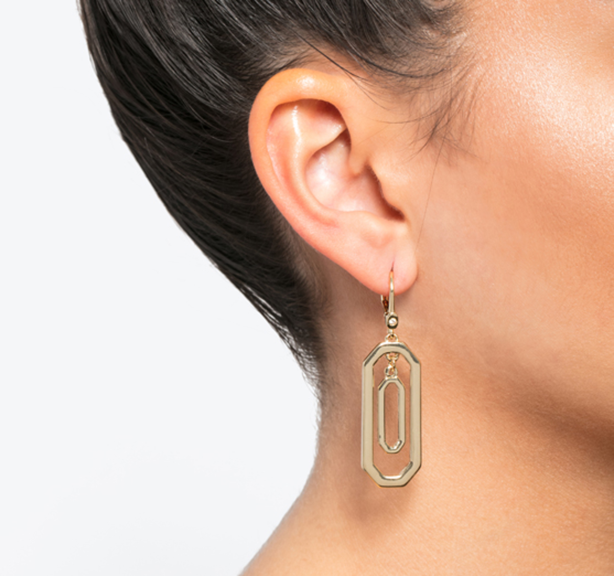 Classic orbital drop earrings gold