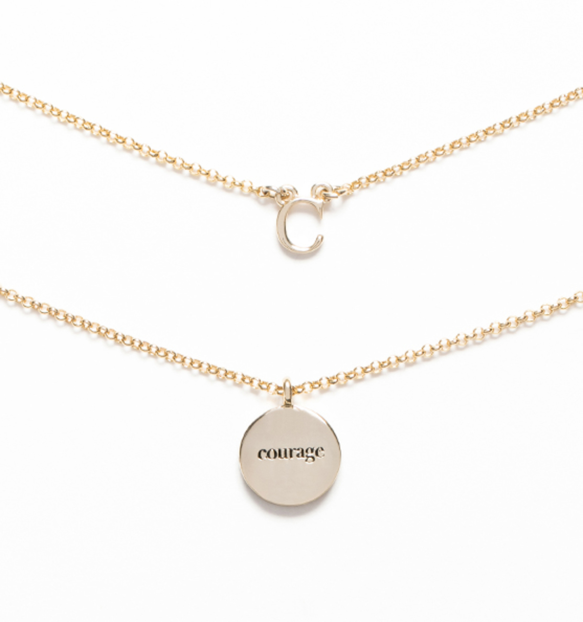 self belief and necklace mantra female jewellery empowerment gold strength courage personalised inspiration