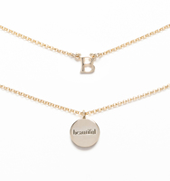 B for beautiful necklace