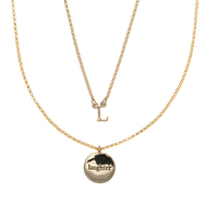 L for laughter necklace