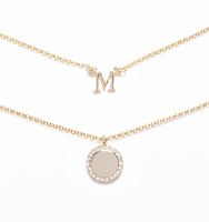 M for magnificent necklace