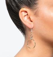 Orbital drop earrings gold