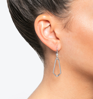 Open drop earrings silver