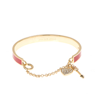 Wise words red enamel bangle