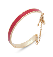 Wise words red enamel bangle 3