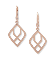 Rose gold open drop earring