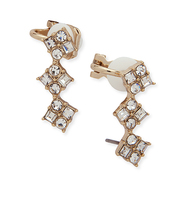 Soho social pave crawler earring