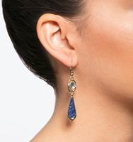 Chrystie double drop earrings