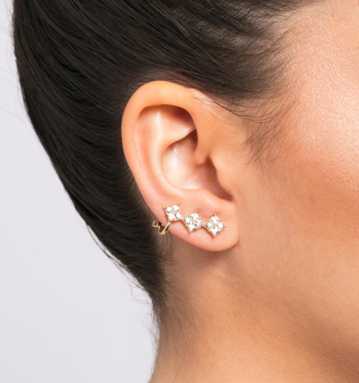 Soho social crawler earrings