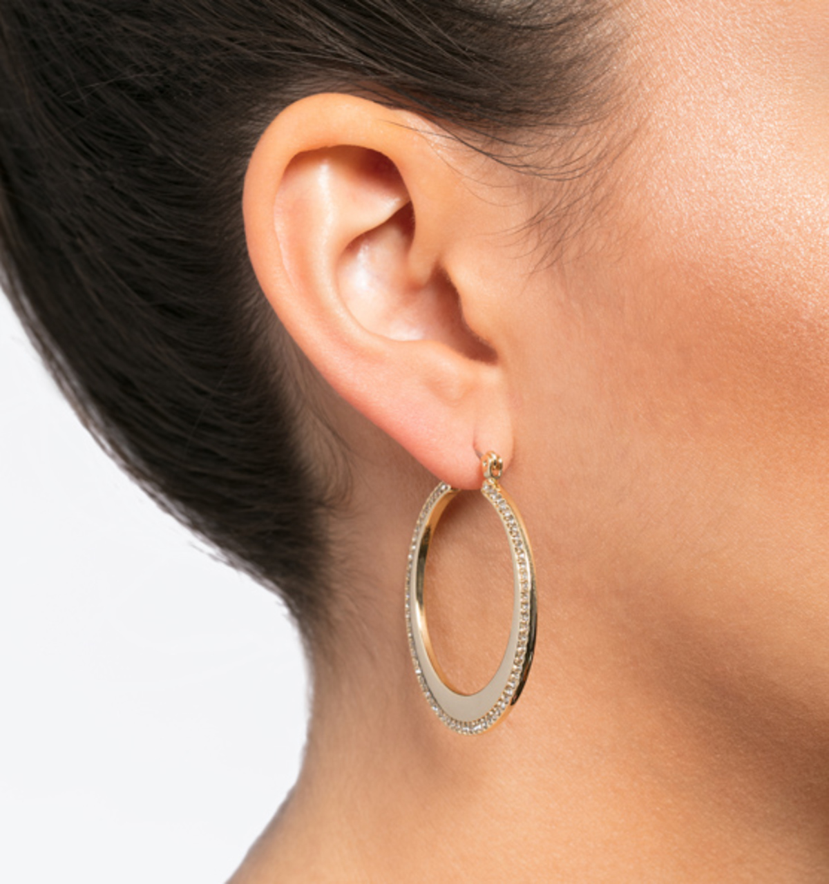 Soho social pave hoop earrings