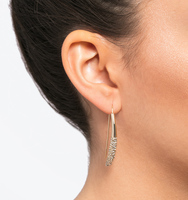 Soho social pave threader earrings