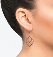 Rose gold open drop earring a2012c