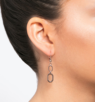 Rose gold double drop earring