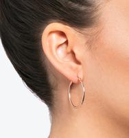 Rose gold large hoop earrings