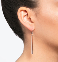 Rose gold linear earring