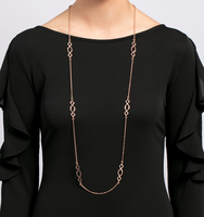 Rose gold long necklace