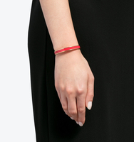 Wise words v day red enamel bangle
