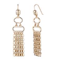 Wooster metal chandelier earring