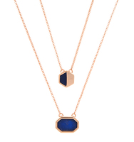 Broome adjustable 2 in 1 necklace blue 1