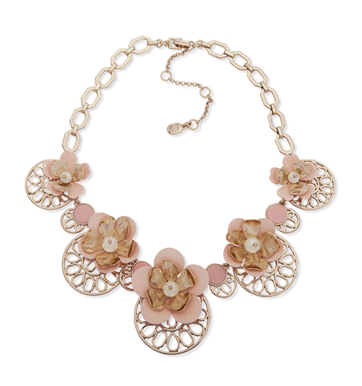 April web spring adjustable drama frontal necklace