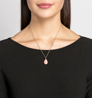 Charlton adjustable pendant necklace coral