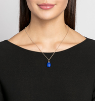 Charlton adjustable pendant necklace lapis
