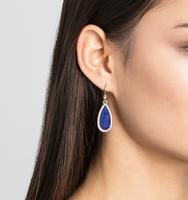 Charlton teardrop earring lapis