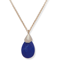Pendant necklace lapis