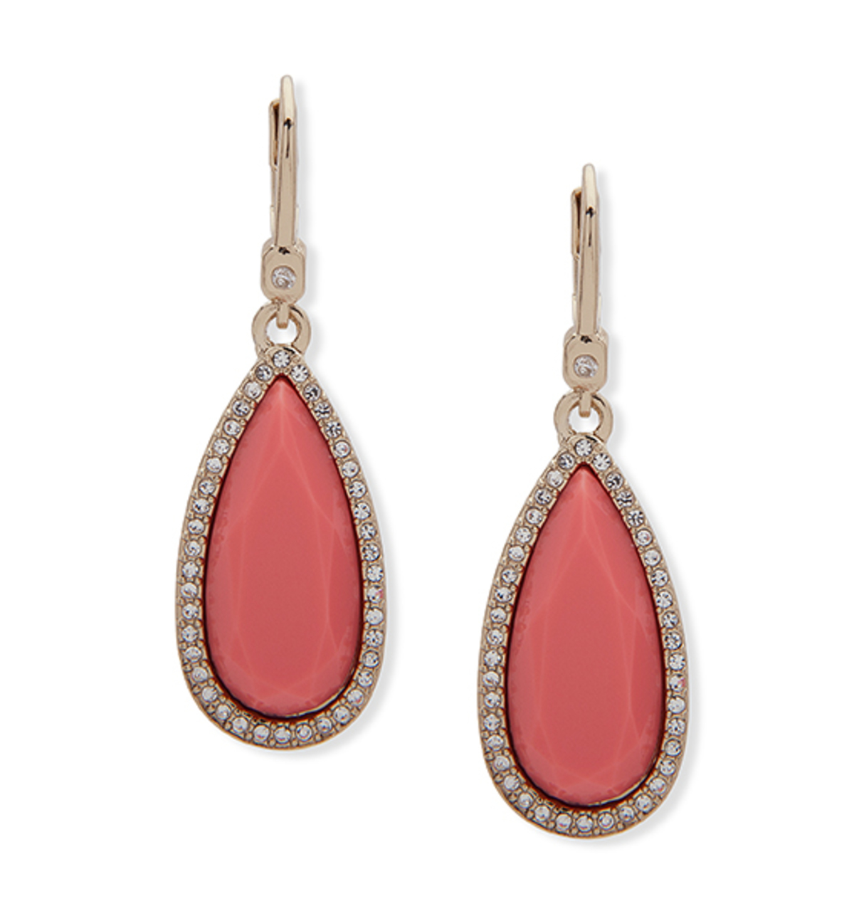 Teardrop earring coral invanka trump