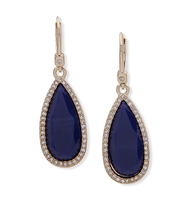 Teardrop earrings lapis ivanka trump
