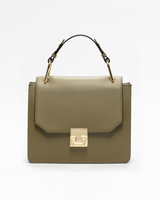 Hopewell top handle bag olive front ivanka trump