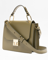 Hopewell top handle bag olive side ivanka trump