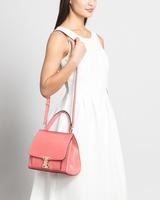 Stanton mini luggage shoulder bag tea rose front on model ivanka trump
